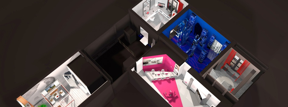 Architecture design showroom interactif sfr 01 for Finding an architect for a remodel