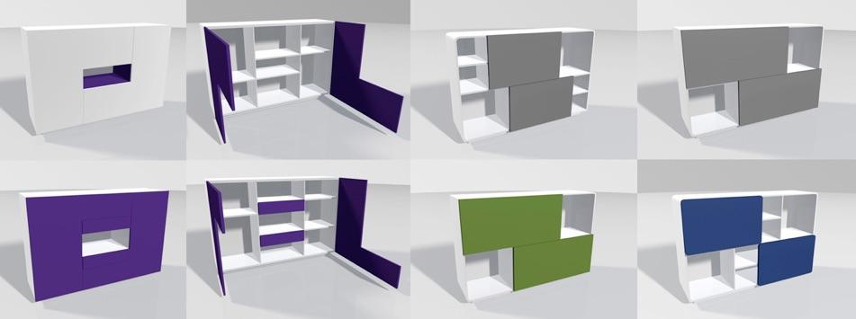 Ff design mobilier collections meuble de rangement placard 9 - Meuble rangement modulable ...